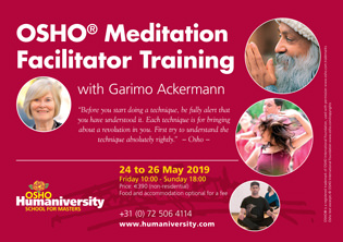 OSHO® Meditation Facilitator Training